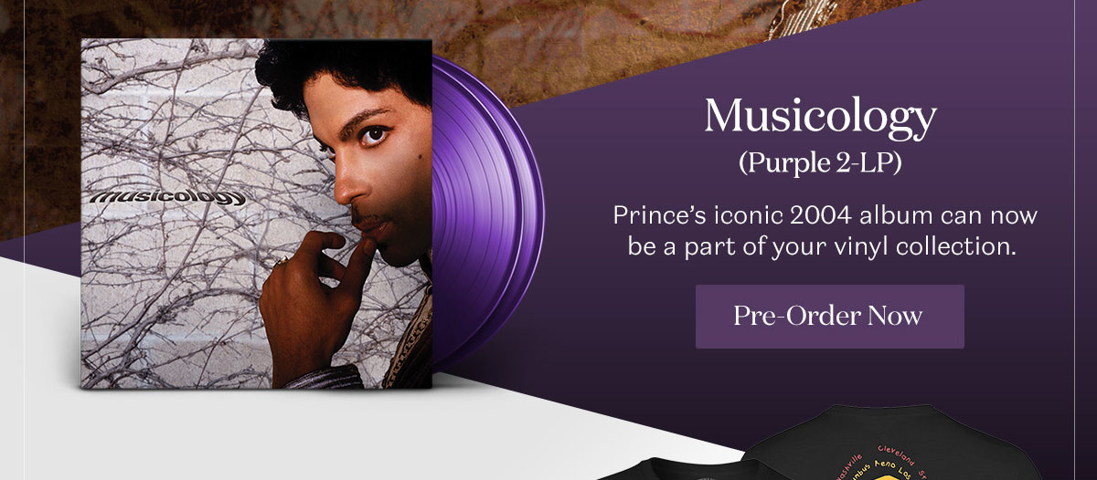 Musicology (Purple 2-LP). Pre-Order Now.