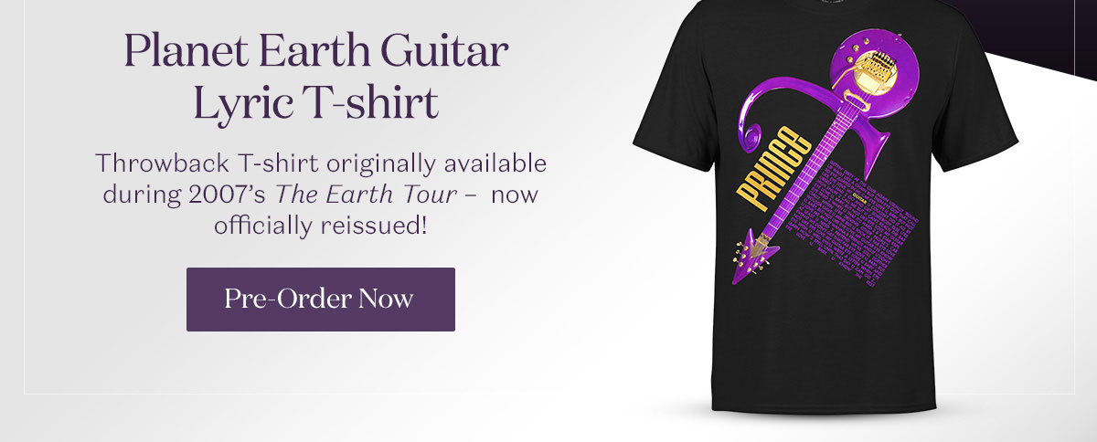 Planet Earth Guitar Lyric T-Shirt. Pre-Order Now.