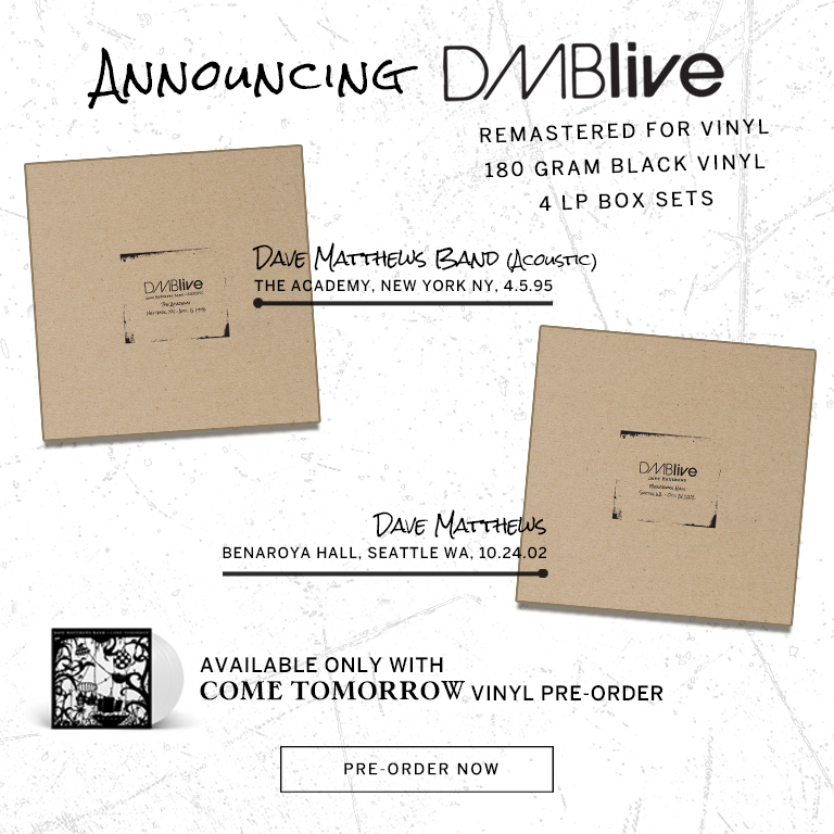 DMBLive Vinyl - Available with Come Tomorrow Pre-Order