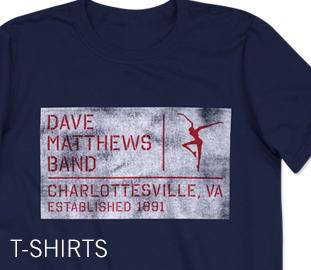 Dave Matthews Band T-shirts