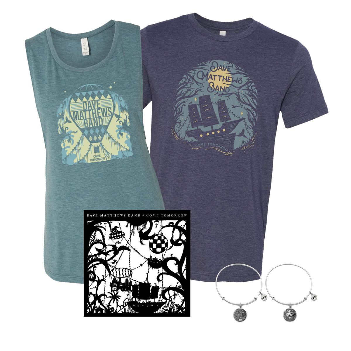 Come Tomorrow + Shirt + Silver Charm Bracelet Bundle