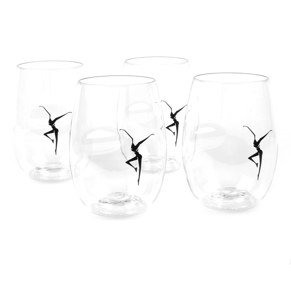 DMB Firedancer GoVino Wine Glasses (set of 4)