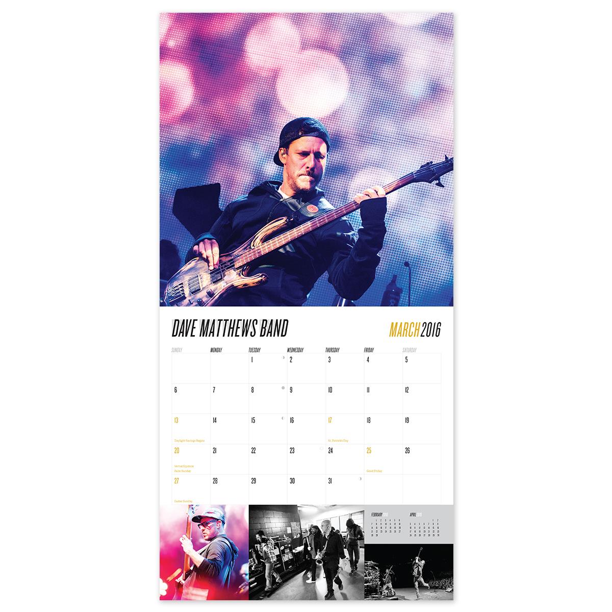 DMB 2016 Calendar