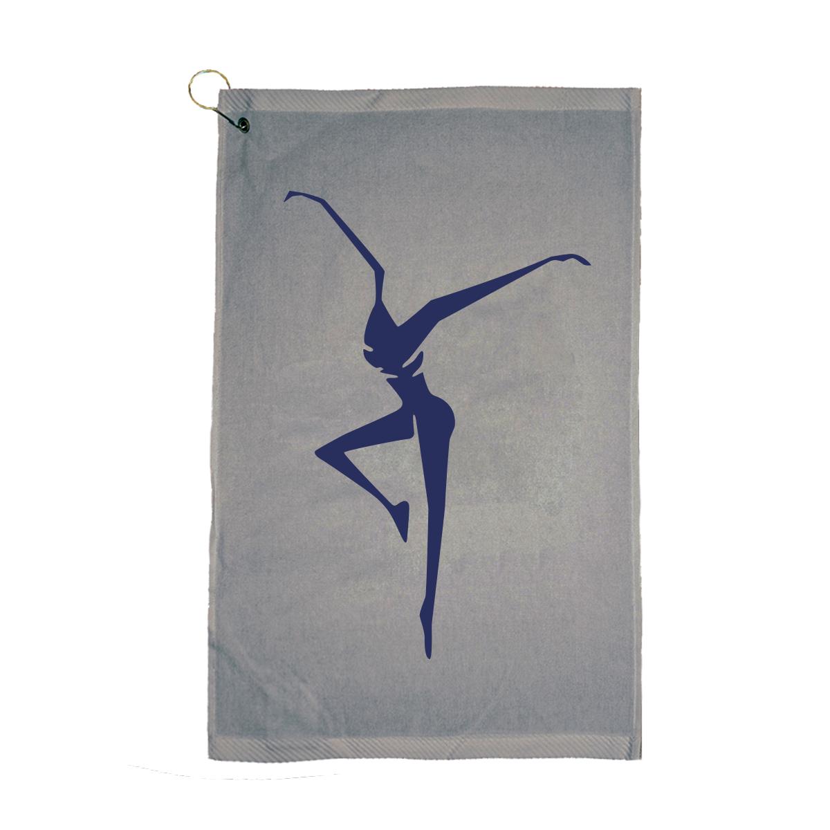 Grey Firedancer Golf Towel