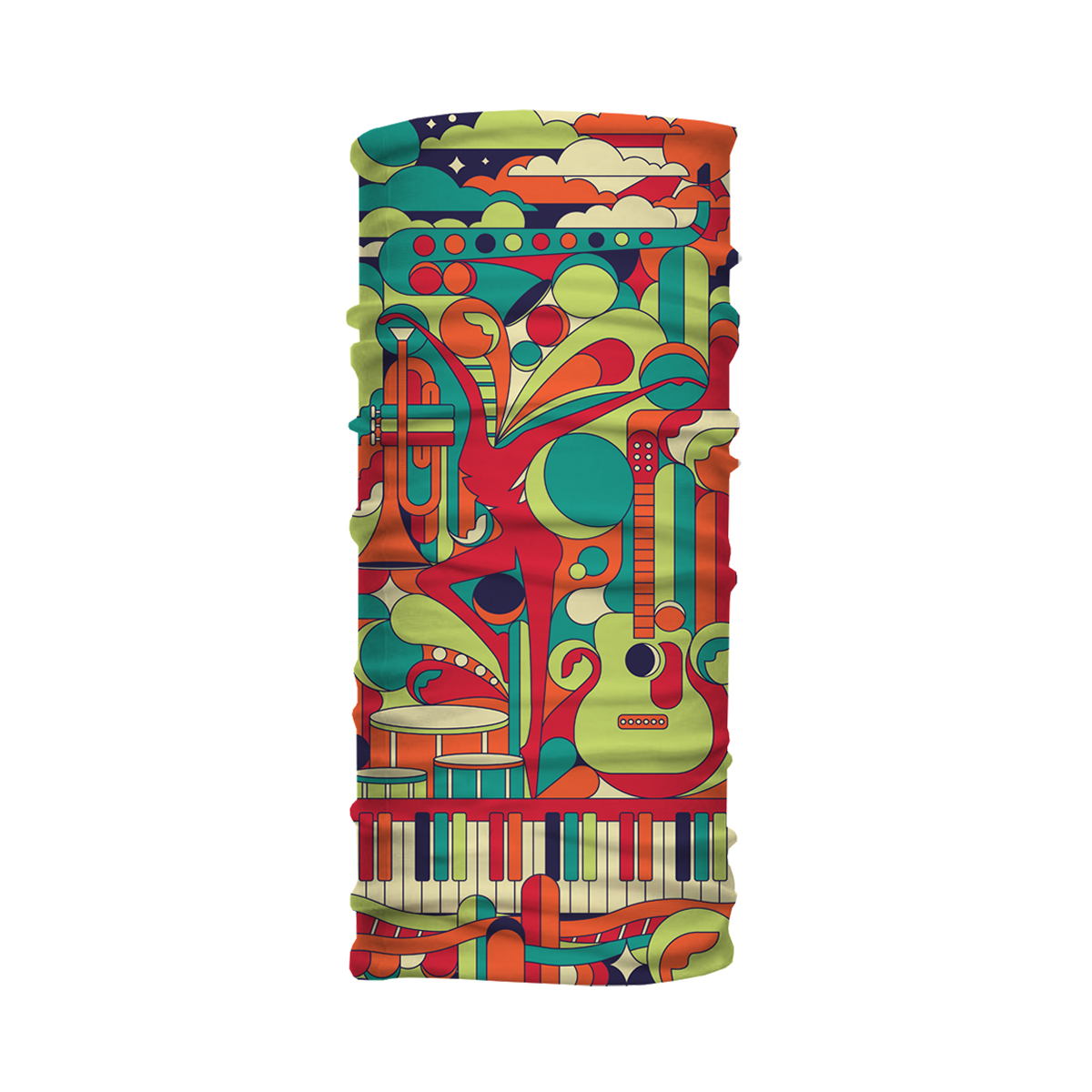 DMB Collage Neck Gaiter - Multicolor