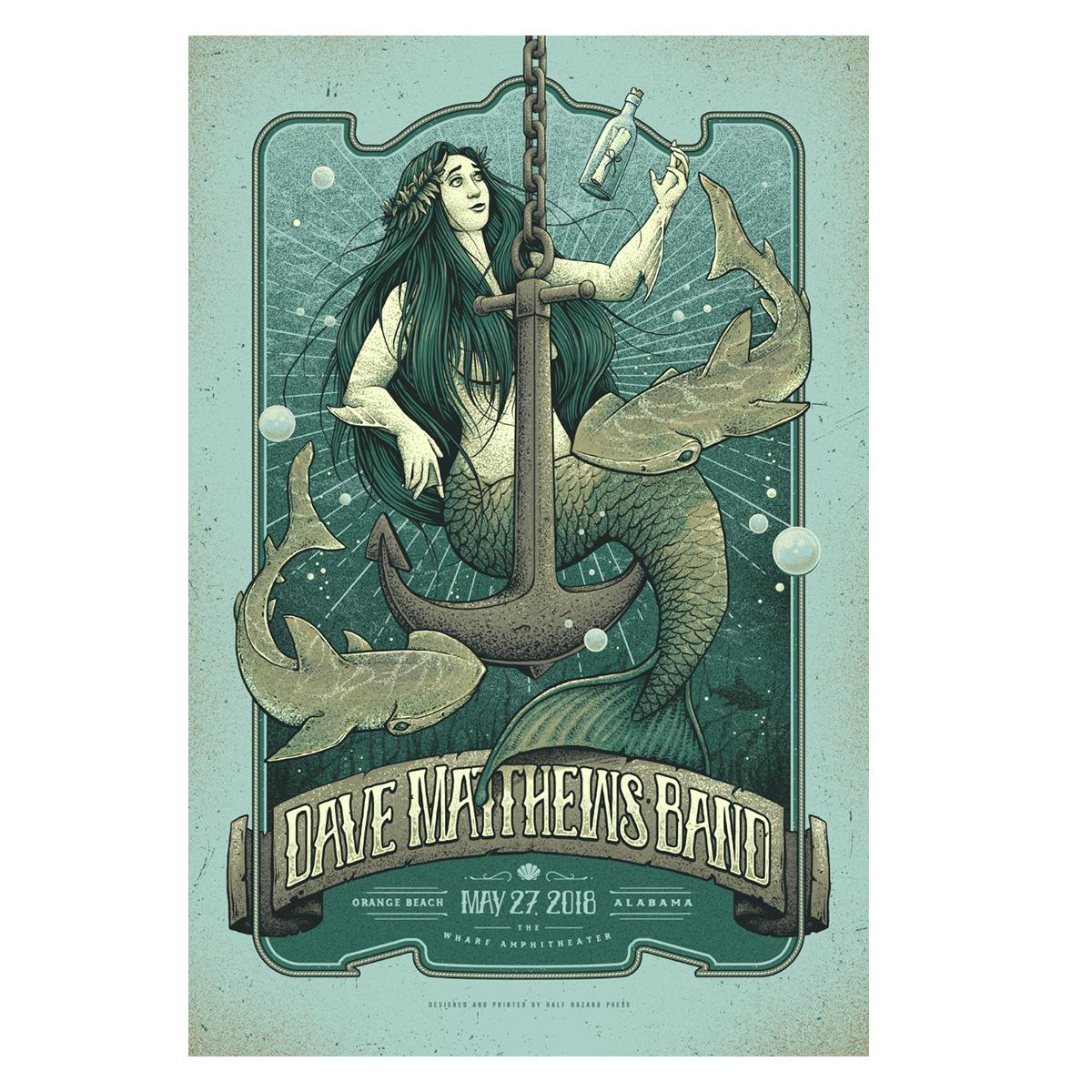 Dave Matthews Band Show Poster - Orange Beach, AL 5/27/2018