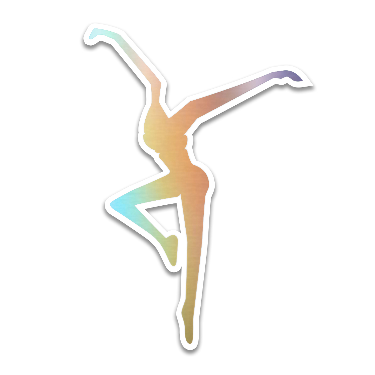Rainbow Foil Firedancer Sticker