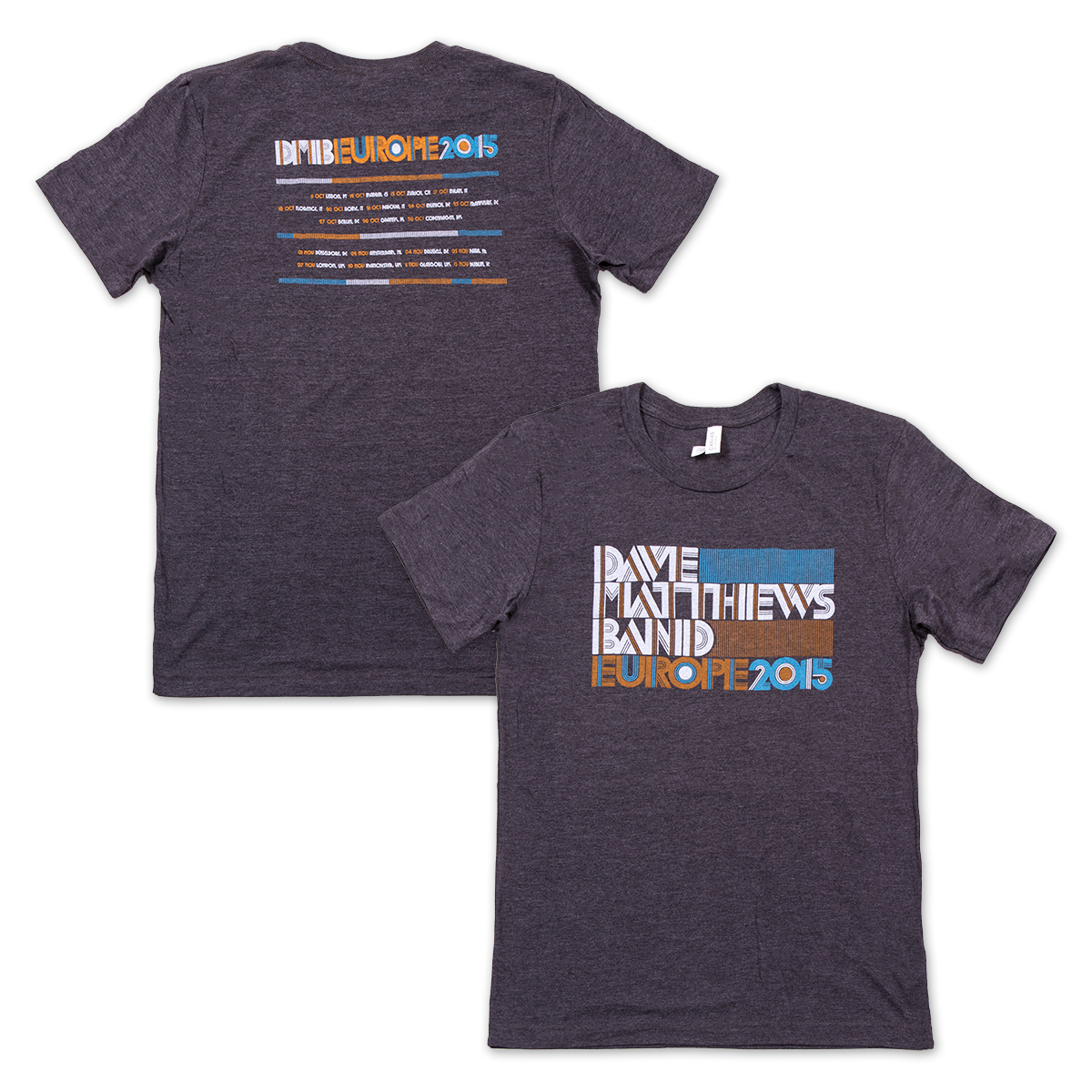 DMB 2015 European Tour T-shirt
