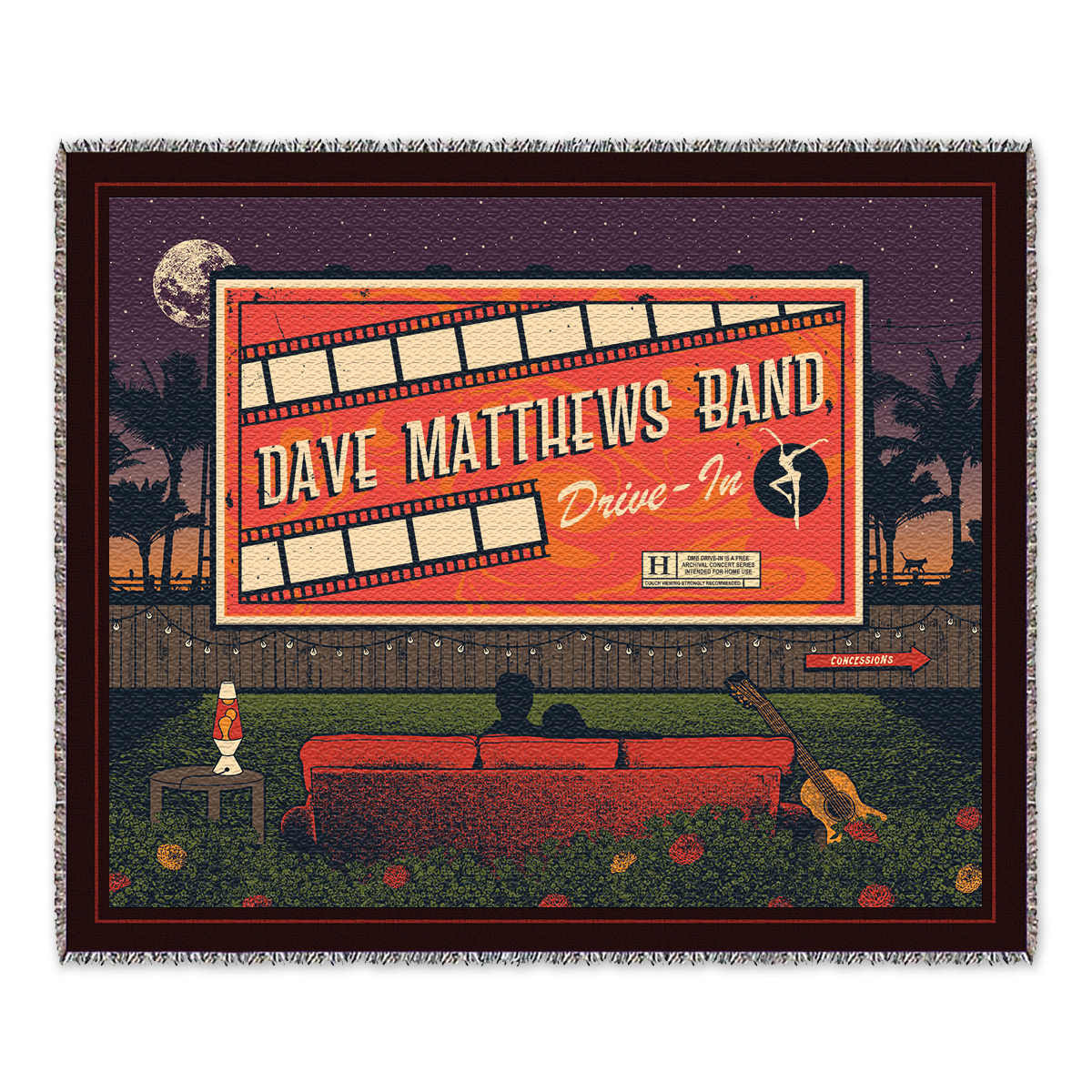 Drive-In Throw Blanket