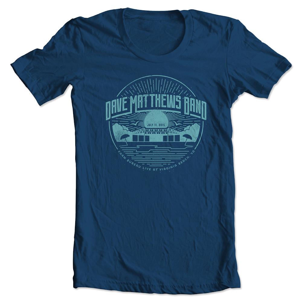 DMB Event T-shirt - Virginia Beach, VA 7/11/2015