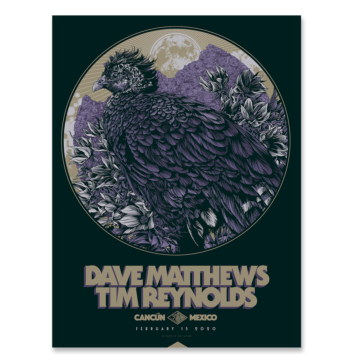 Dave & Tim Show Poster - Cancun Mexico 2/15/2020