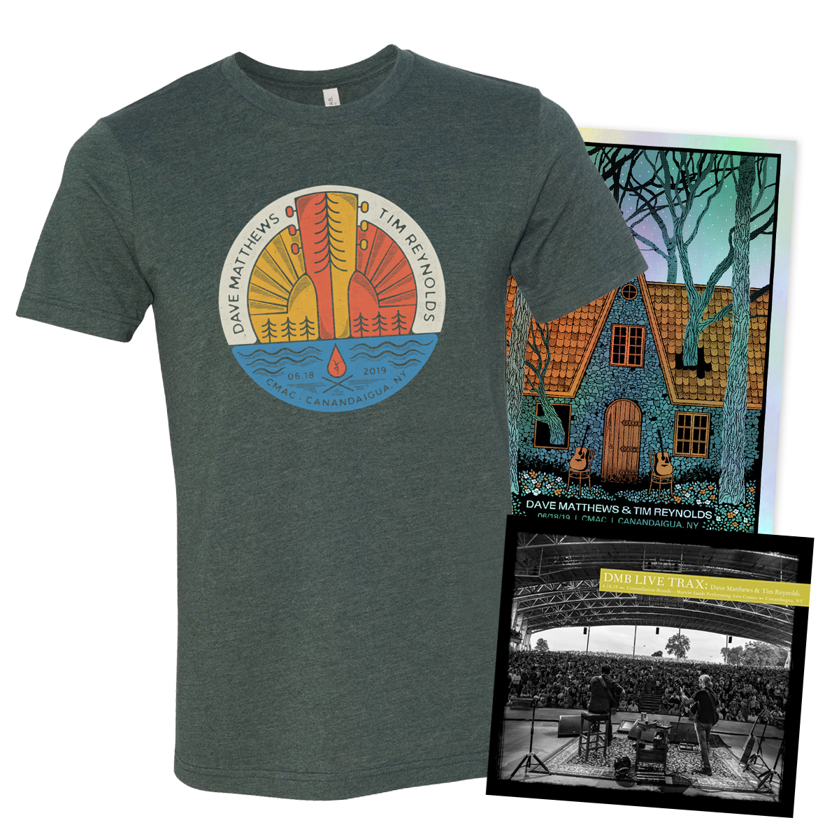 Live Trax Vol. 49 +  Foil Poster +  T-shirt Bundle