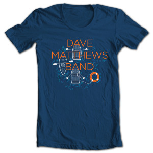 Dave Matthews Band Mansfield 2014 Event T-shirt