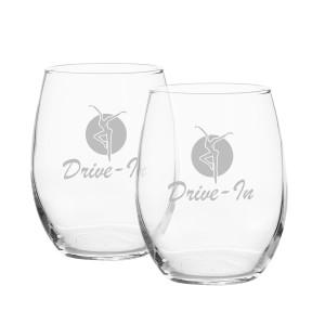 Drive-In Wine Glass Set
