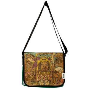 Recycled Billboard Big Whiskey Messenger Bag