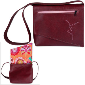 DMB Snap Design Shoulder Bag- Red