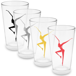 DMB Firedancer Printed Pint Glass - Set of 2