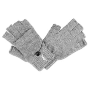 DMB - Firedancer Fingerless Gloves With Flap - Grey