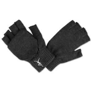 DMB - Firedancer Fingerless Gloves With Flap - Charcoal