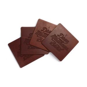 DMB Debossed Leather Coaster Set