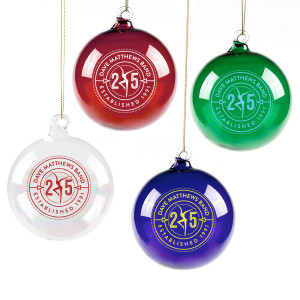 DMB 25th Anniversary Hand Blown Glass Ornament