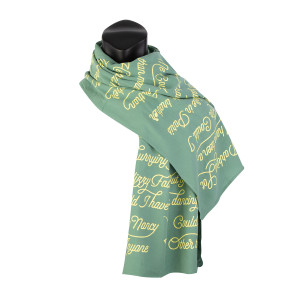 Dancing Nancies Lyric Scarf