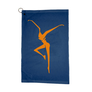 Navy Firedancer Golf Towel