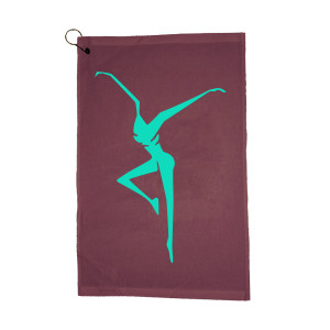 Maroon Firedancer Golf Towel