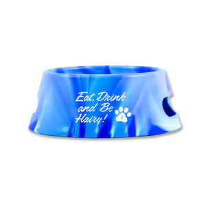Eat, Drink, and Be Hairy Dog Bowl
