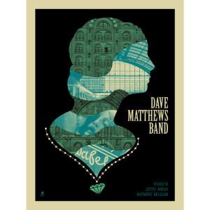 DMB Antwerp, Belgium 03/01/10 Show Poster