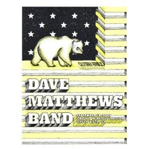 DMB Chula Vista, CA 09/12/09 Show Poster