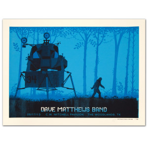 DMB Show Poster -The Woodlands, TX 5/17/2013