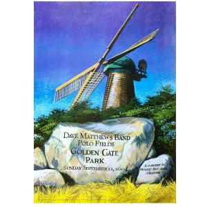 DMB Golden Gate Park Event Poster