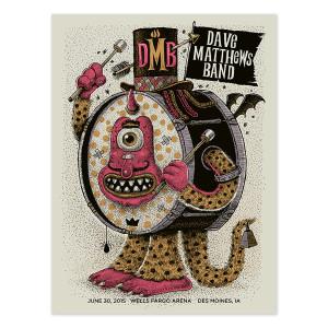 DMB Show Poster – Des Moines  6/30/2015