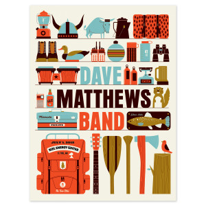 DMB Show Poster – St Paul, MN 7/1/2015
