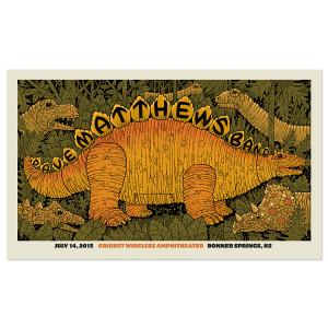 DMB Show Poster – Bonner Springs, Kansas 7/14