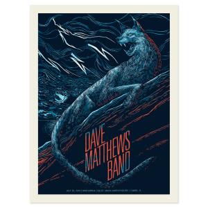 DMB Show Poster – Tampa, FL  7/29/2015