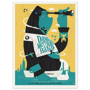DMB Show Poster - Wantagh, NY 6/21/2016