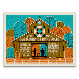 Dave & Tim  Show Poster - Pilgrimage Music Festival  9/23/2018