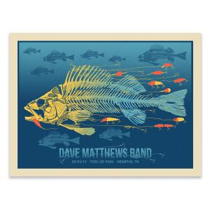 Dave Matthews Band Show Poster - Memphis, TN 5/3/2019