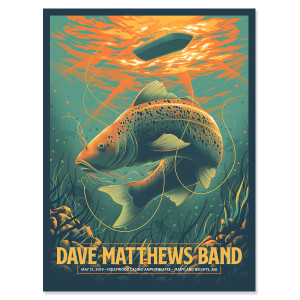 DMB Show Poster - Maryland Heights, MO 5/15/2019