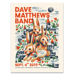 DMB Show Poster Ridgefield, WA 9/4/2019