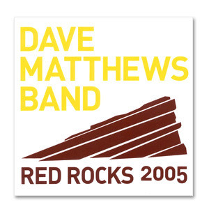 DMB Red Red Rocks 2005 Sticker