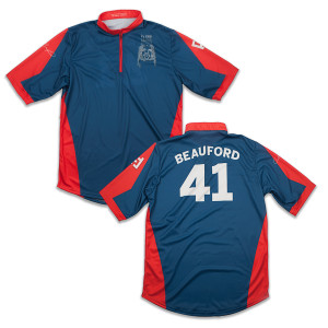 Custom Carter Beauford Jersey Red/Blue