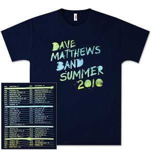 DMB 2010 Tour Date Shortsleeve Shirt