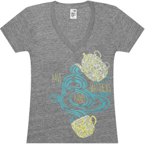 DMB Ladies Teapot V-Neck T-Shirt