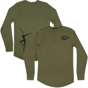 DMB Mens Longsleeve Henley Shirt