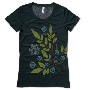 DMB Women's Floral Tri-Blend Crew Neck Shirt