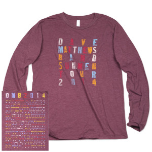 DMB 2014 Long Sleeve Tour Shirt