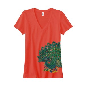 DMB Ladies Peacock V-neck Tee